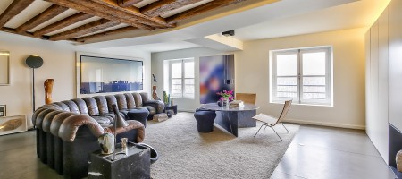 Paris 4ème – Ile Saint-Louis – Quai de Bourbon – Appartement/Loft de 87m²